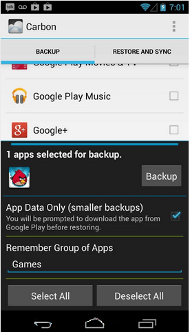 backup app on android
