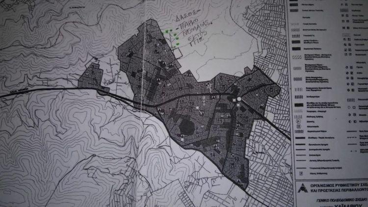 """Χαϊδάρι Σήμερα Ο """"δασικός"""" χάρτης Χαϊδαρίου και ο """"βαθύς Δήμος"""" 1"""