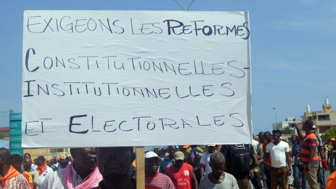 ACTUALITESINTERNATIONALTogo: appel à la mobilisation de l'opposition 12 septembre 20170