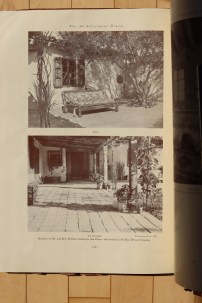 Patio and El Corredor at Lindstrom House by Cliff May in Architectural Digest (1934).