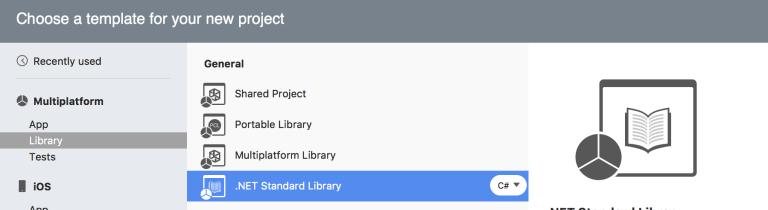 netstandard для Mac