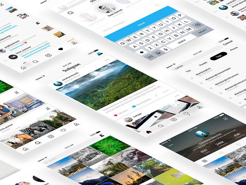 Создание пользовательского интерфейса Instagram в Xamarin.Forms