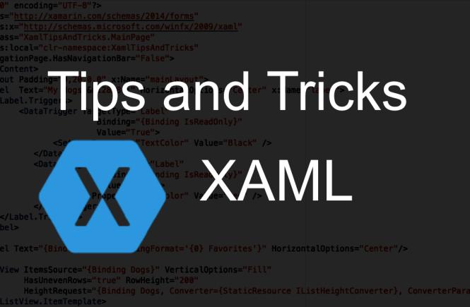 XAML - Tips and Tricks - XamGirl