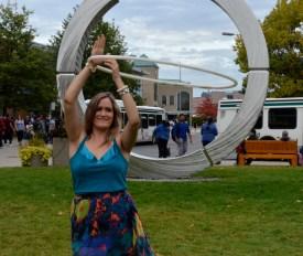 "Bridgette Hall - The ""Hula-Hoop Girl"" at Durham College."