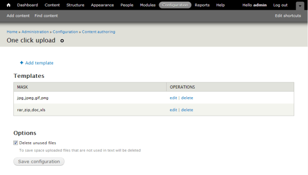 Drupal Модуль One Click Upload простая заливка файлов в