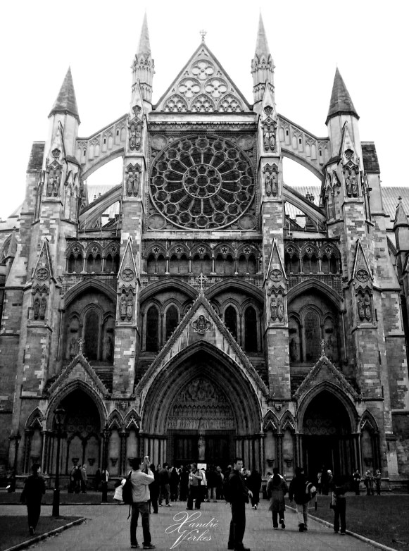 London - Westminster Abbey bw
