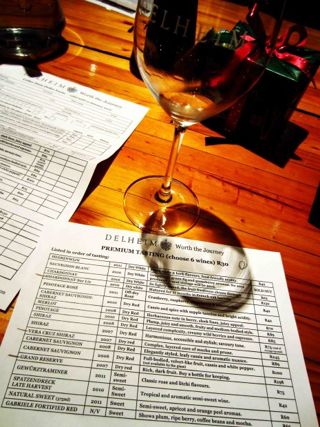 Wine tasting list!!!