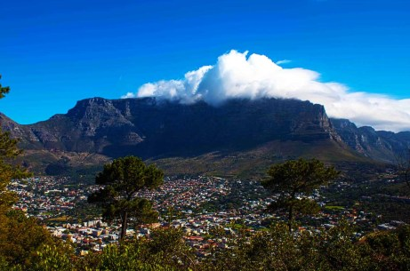 Table Mountain with Cape Town looming below...