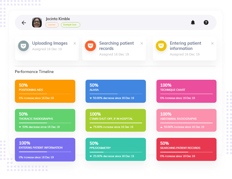skills and competency management screen