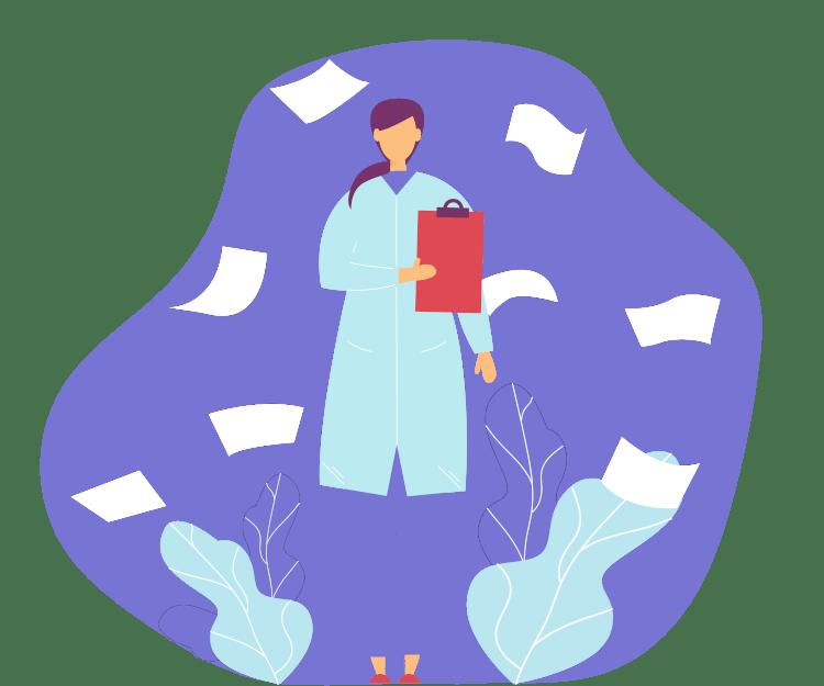 Nurse with a checklist