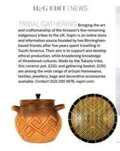 Home & Gardens Magazine, Xapiri Feature