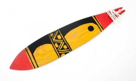Mehinako Xingu Bull Roarer, Tribal Art