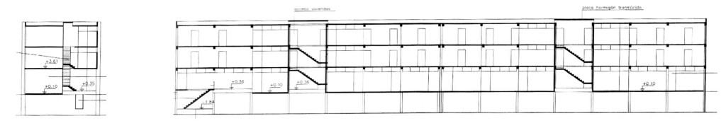 sección Grupo de viviendas para cooperativa de agentes comerciales de Santiago Artal Ríos
