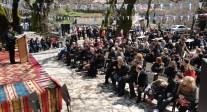 2015/03/14: Ο Β. Χατζηλαμπρου στις εκδηλωσεις της Αναπαραστασης για τον ξεσηκωμο του '21 στο Λιβαρτζι