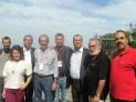 2012/10/06: Αντιπρόσωποι στη Διάσκεψη – ο Β. Χατζηλάμπρου ανάμεσα στον Houcine Bardi από την Τυνησία και τον Yousef Habash από την Παλαιστίνη.