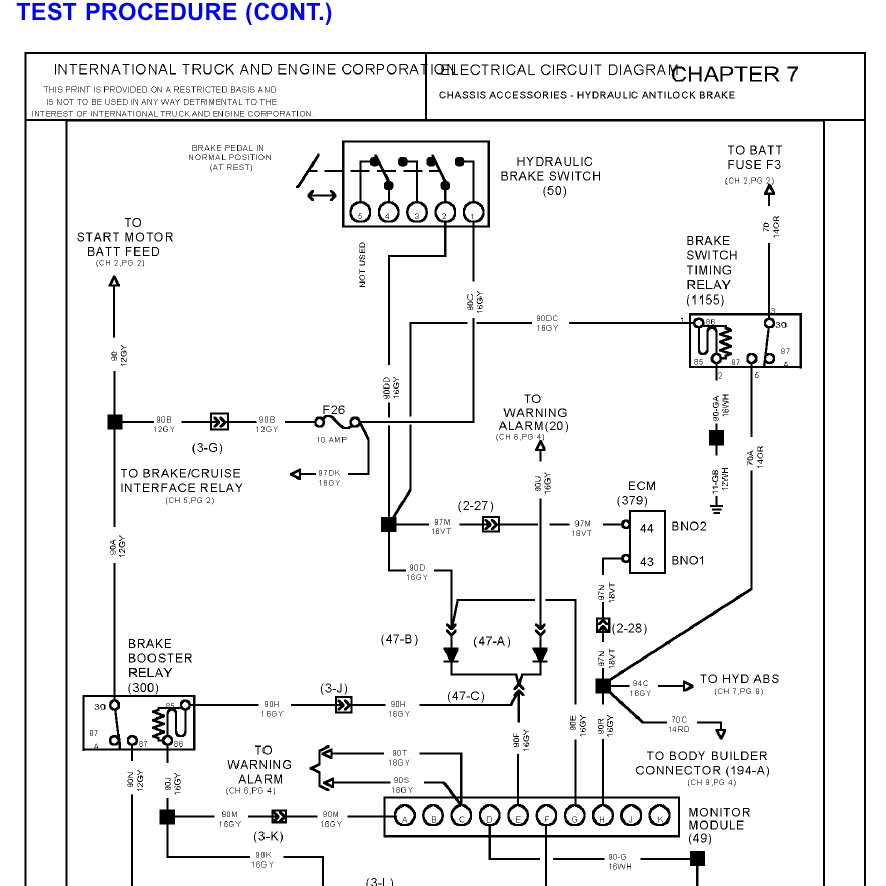 2001 international 4900 wiring diagram starter   46 wiring