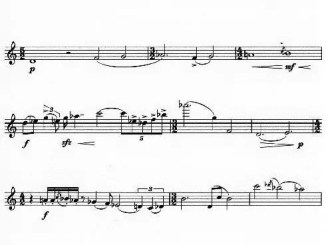 1. Partiturseite xpt 126. Melodie & Capriccio für Flöte solo