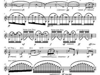 1. Partiturseite Spiel I (auf 4 Saiten) für Violine solo - xpt 137 - Komposition von Xaver Paul Thoma