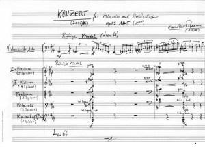Partiturseite: xpt 145. Konzert - Violoncello + Streichorchester von Xaver Paul Thoma