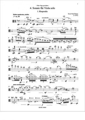 Partiturseite: xpt 158 A. 4. Solosonate für Bratsche