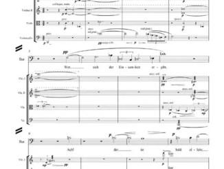 Partiturseite: xpt 165. Lieder für Streichquartett und Stimme