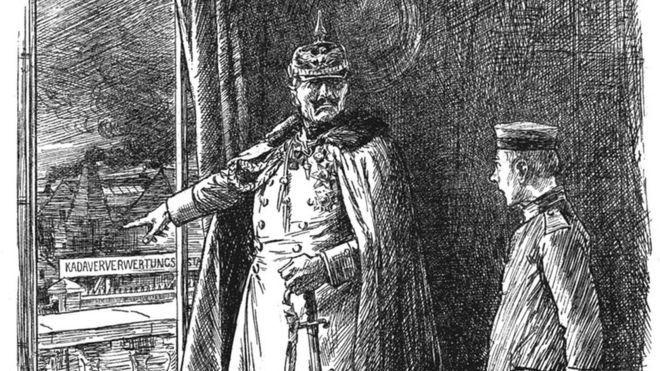 El espeluznante relato sobre fábricas alemanas de cadáveres que se convirtió en noticia falsa hace 100 años – BBC Mundo
