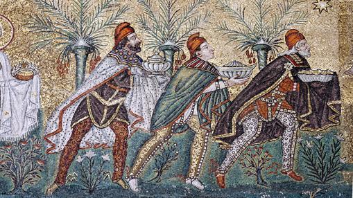 Los Reyes Magos, en el mosaico de San Apolinar