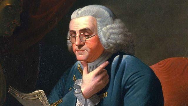 Benjamin Franklin, el padre fundador de EEUU.