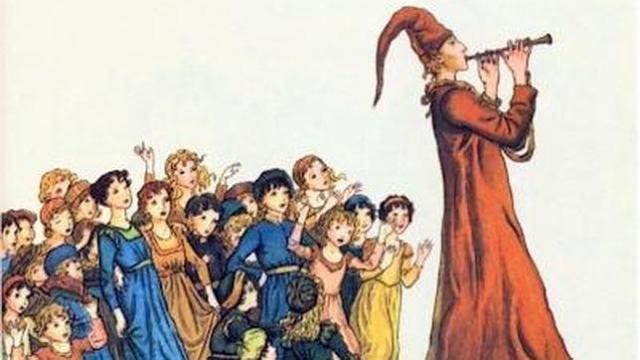 Ilustración del cuento «El flautista de Hamelín», una fábula probablemente inspirada en la Cruzada de los Niños - ABC