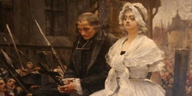 María Antonieta camino de su ejecución, por François Flameng (1887) - Museo de la Revolución france