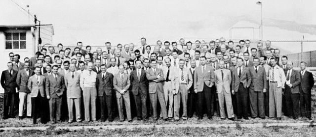 Algunos científicos alemanes que formaban parte de la Operación Paperclip