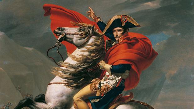 Napoleón cruzando los Alpes, obra de Jacques-Louis David.