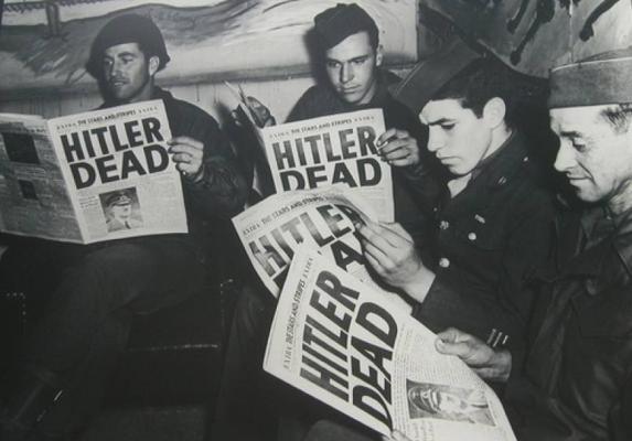 Hitler murió el 30 de abril de 1945.