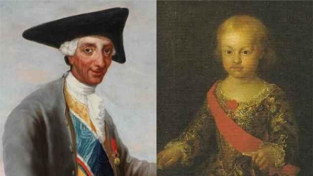 Carlos III retratado como cazador por Goya y su hijo Felipe Antonio Pascual.