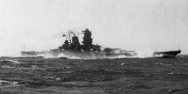 El Yamato, durante sus pruebas de mar, en 1941. - ABC / Vídeo: Yamato, el mayor acorazado de la historia