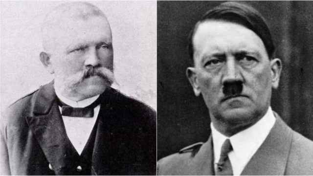 Alois Hitler, Adolf Hitler y Klara Hitler.