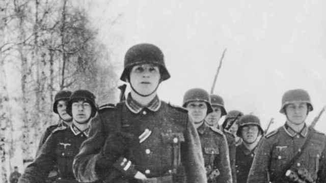 Soldados alemanes en el frente oriental en 1942.