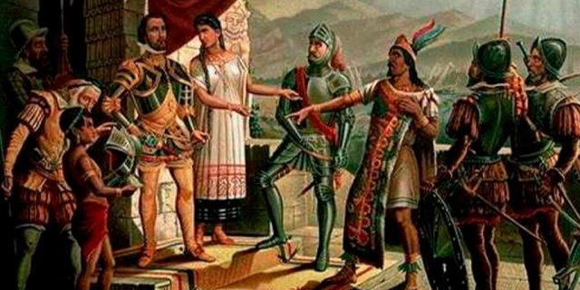 El tlatoani Moctezuma Xocoyotzin tuvo conocimiento de ocho presagios funestos previo a la llegada de los españoles (Foto: Twitter@Cuauhtemoc_1521)