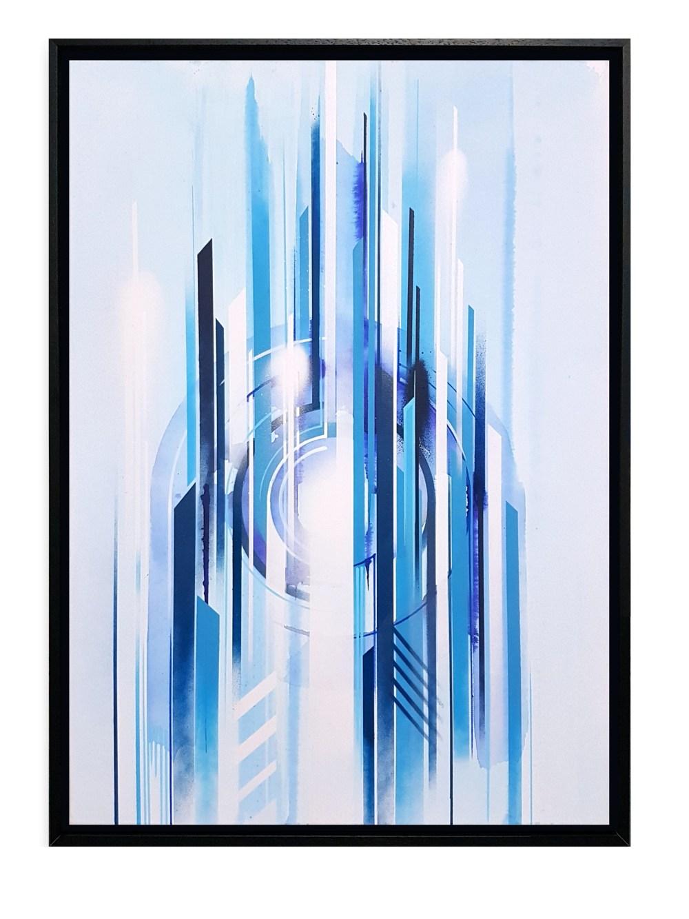 iazzu - interstellar Blue 2 Magaldi 50x70 2017