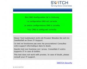 DNS-Check, par Switch.