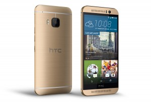 L'élégant HTC One M9, en version or sur or.