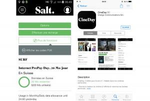 Les applications mobiles de Salt.