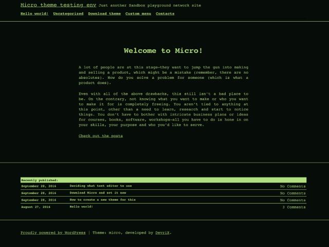 Micro - free WordPress theme's screenshot