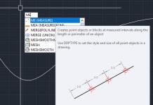 Sử dụng lệnh Measure trong AutoCad