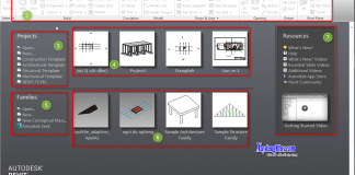 Tổng quan giao diện Revit Architecture