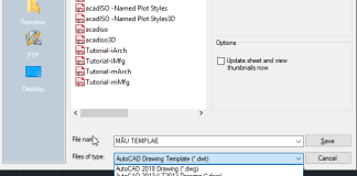 Tạo file mẫu Template trong AutoCAD
