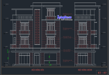 Hồ sơ mẫu nhà phố 4 tầng 5x11m