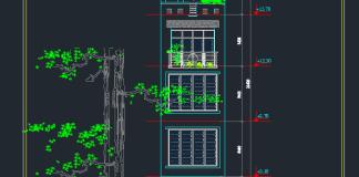 Mẫu nhà phố 7 tầng 4x18m