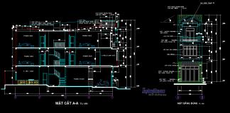 Mẫu hồ sơ nhà liền kề 2 tầng rưỡi 5x18m