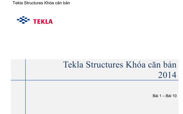 Tự học tekla structure